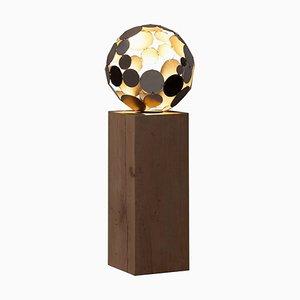 Indoor Lampe, Globus, handgefertigte moderne Skulptur, 2021