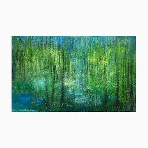 Annette Selle, Breath, Landscape, Oil Painting on Canvas, 2021
