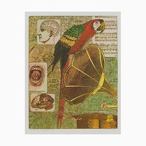 Annemarie Petri, Interieur eines Logopäden, Papagei, 2001