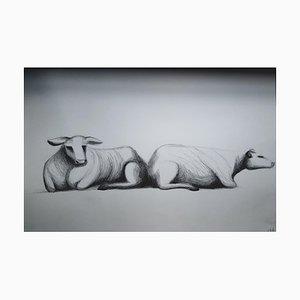 Chroessi Schnell, Cows IV, Zeichnung, 2007-2010