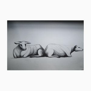 Chroessi Schnell, Vaches IV, Dessin, 2007-2010
