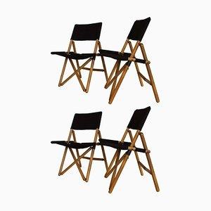 Navy Folding Chairs by Sergio Asti for Zanotta, 1969, Set of 4