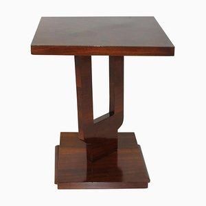 Art Deco Walnut Side Table, Italy, 1925
