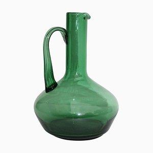 Italian Green Glass Pitcher, 1960s