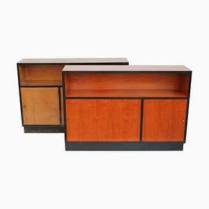 Italian Cherry Wood Double Sided Cabinet, 1940s