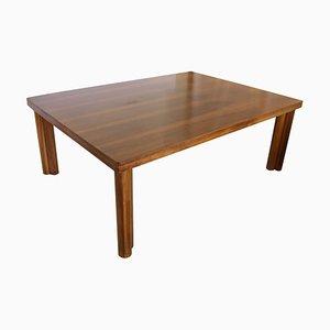 Natural Walnut Italian Large Dining Table by Carlo Scarpa for Bernini, 1977