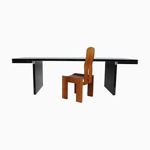 Italienischer Modell 1934-765 Stuhl aus natürlichem Nussholz von Carlo Scarpa für Bernini, 1977
