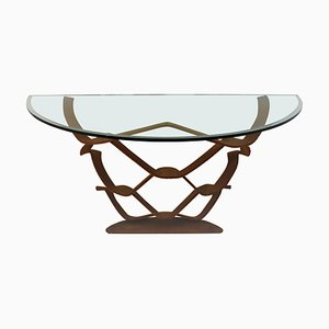 Rust-Brown Neolithic Console by Maurice Barilone for Reflex, Italy, 1981