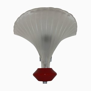 Art Deco Italian Sconce in Bubble Glass with Nickel Metal Support from Venini, 1920s