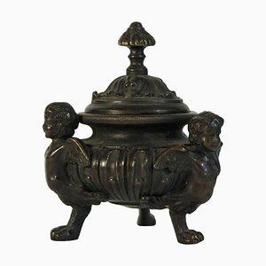 Spätes 19. Jahrhundert Tintenfass aus Bronze
