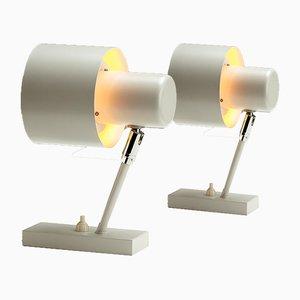 Weiße Alfa Wandlampen von Jo Hammerborg für Fog & Mørup, Denmark, 1960er, 2er Set