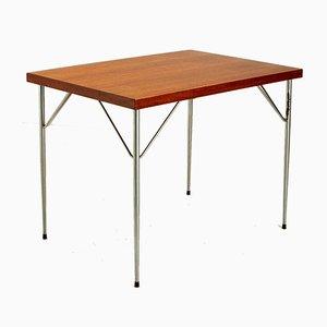 Schreibtisch aus Teak & Chrom im Stil von Arne Jacobsen, Dänemark, 1950er