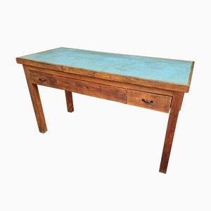 Tavolo da lavoro antico in faggio