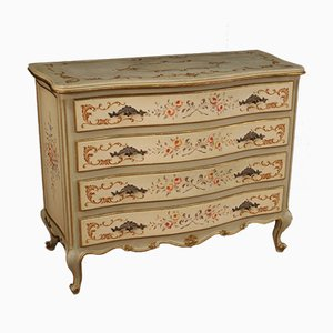 Lacquered, Gilded and Painted Venetian Dresser