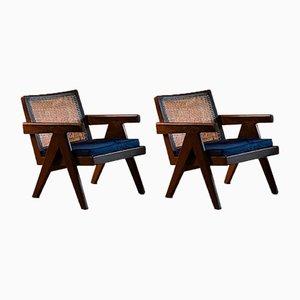 Model Pj010104t Easy Low Chairs by Pierre Jeanneret, 1953, Set of 2