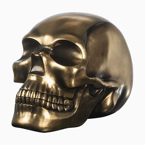 The Skull in Ceramic and Antiqued Golden Leaf from Vgnewtrend