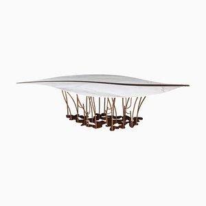 Leaf Marmor Tisch aus Calacatta & Eramosa Marmor von Vgnewtrend, Italien
