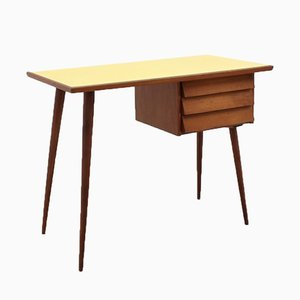 Mid-Century Cherry Wood Desk with Formica Top