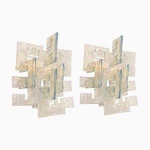 Applique grandi in vetro di Murano di Carlo Nason per Kalmar, Italia, anni '60, set di 2