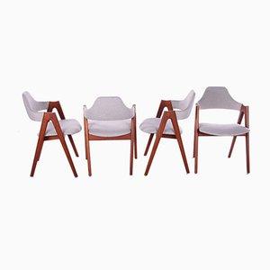 Dänische Modell Compas Esszimmerstühle von Kai Kristiansen für Sva Mobler, 1960er, 4er Set