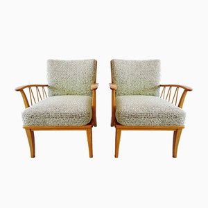 Mid-Century Armchairs with Viennese Mesh, Set of 2