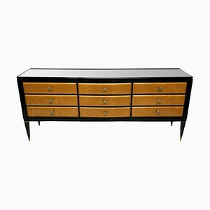 Large Black Lacquered Sideboard by Paolo Buffa