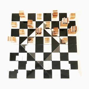 Vintage Plexiglass Chessboard, 1970s
