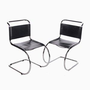 Sedie MR10 vintage di Ludwig Mies van der Rohe per Knoll, set di 2