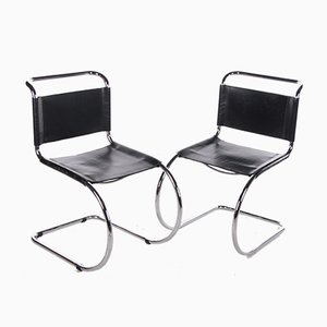 Vintage MR10 Chairs by Ludwig Mies van der Rohe for Knoll, Set of 2