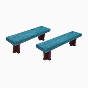 Large Art Deco Benches, Set of 2