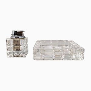 Smoking Set in Crystal from Kristall Krisla, 1970s, Italy, Set of 2
