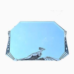 Art Deco Mirror in Silver-Plated Bronze from Boretti
