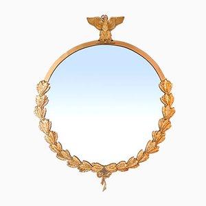 Spiegel aus vergoldeter Bronze mit Adler- und Lorbeerkrone