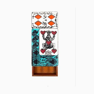 Playing Cards Box by Piero Fornasetti, Milan, Italy, 1950s