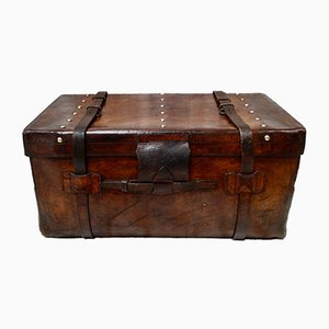English Leather Travel Trunk
