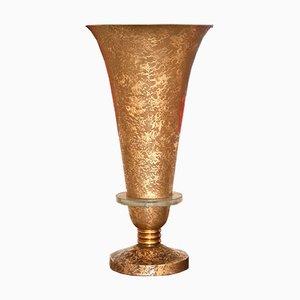 Große Art Deco Lampe im Stil von Genet et Michon