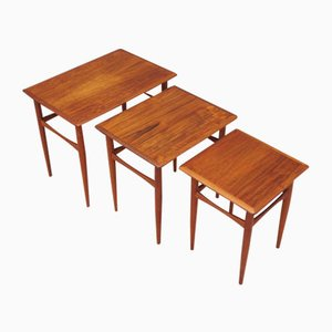 Teak Tables, 1960s, Denmark, Set of 3