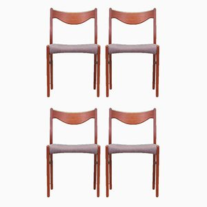 Teak Chairs, 1970s, Denmark, Set of 4