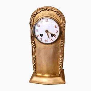 Goldene Bronze Art Deco Uhr