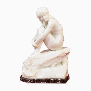 Antique Alabaster Statue