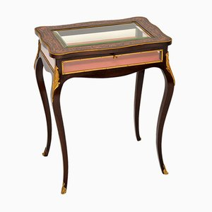Table de Vitrine Antique en Marqueterie, France