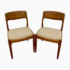 Dänische Teak Stühle von Juul Kristensen, 2er Set