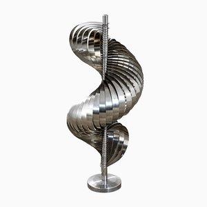 Spirales Cinétiques Stehlampe aus Stahl und Aluminium von Henri Mathieu