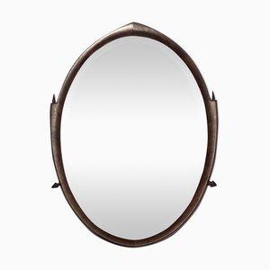 Art Deco Dutch Bevelled Walnut & Teak Mirror