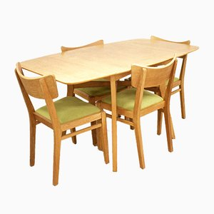 Mid-Century Brandon Drop Leaf Dining Table and Chairs Set from G-Plan, 1950s, Set of 5