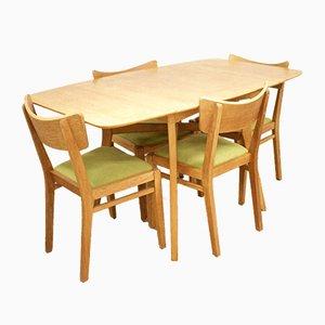 Tavolo da pranzo Mid-Century allungabile con sedie di G-Plan, anni '50, set di 5