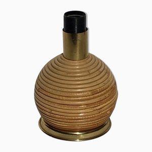 Pencil Tischlampe aus Schilfrohr, Rattan & Korbgeflecht