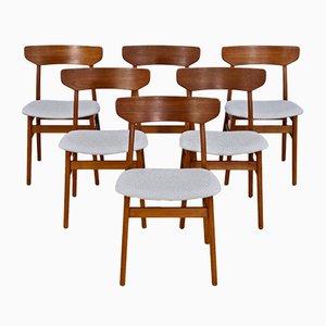 Dänische Esszimmerstühle aus Teak mit Neuem Bezug von Farstrup Møbler, 1960er, 6er Set
