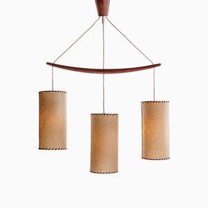 Mid-Century Scandinavian Pendant Lamp in Teak, 1960s