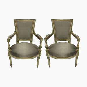 French Directoire Style Armchairs, 1930s, Set of 2
